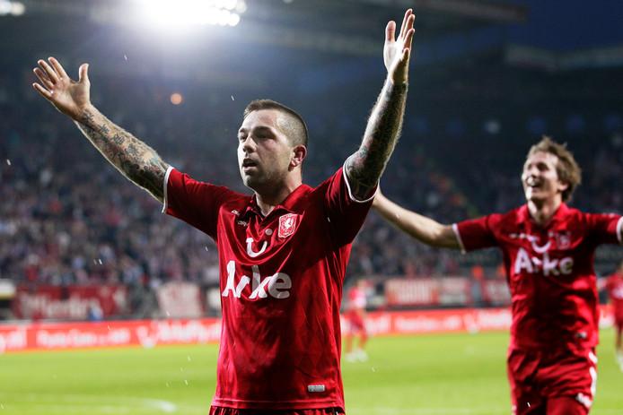 Theo Janssen in het shirt van FC Twente.