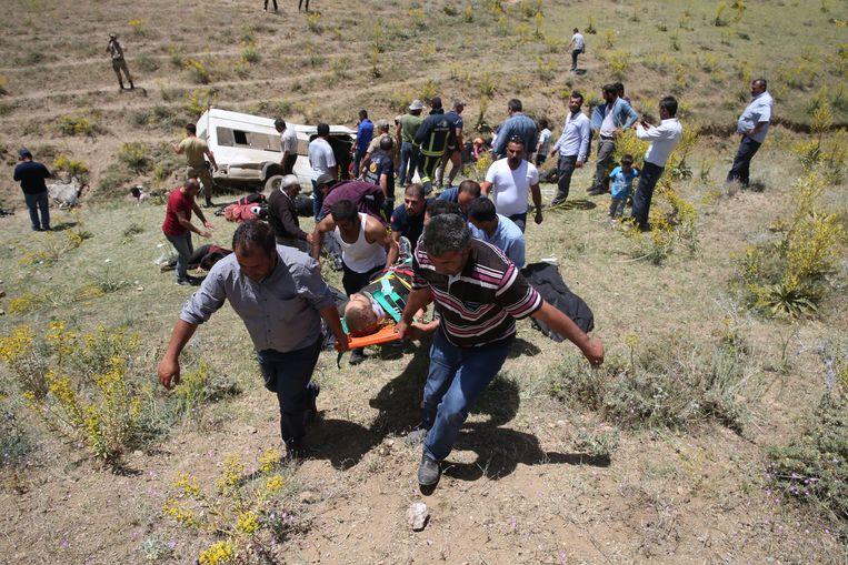 Ook in Turkije gebeurde op 18 juli een ongeluk met een minibus vol migranten.