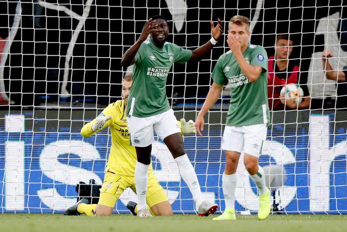 Teleurstelling bij spelers van PSV.