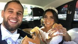 Bruid bestelt maar liefst 450 hamburgers tijdens trouwfeest