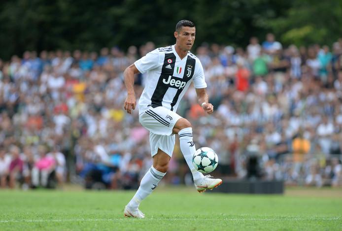 Cristiano Ronaldo in actie voor zijn nieuwe club Juventus.