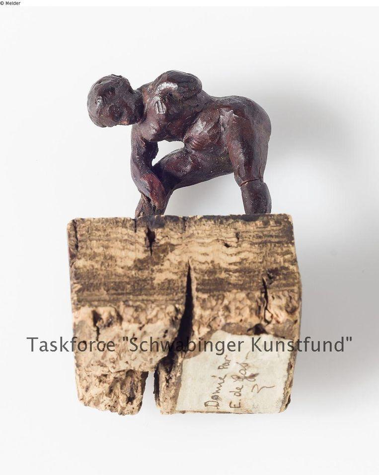 Een beeld van Edgar Degas. De teksten in de foto's zijn van de onderzoekers. Beeld Taskforce