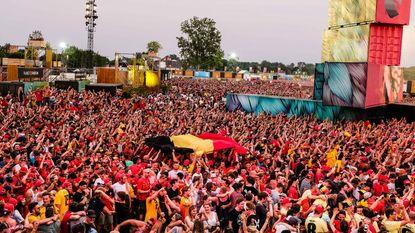 Festivalterrein blijft open voor halve finale Rode Duivels
