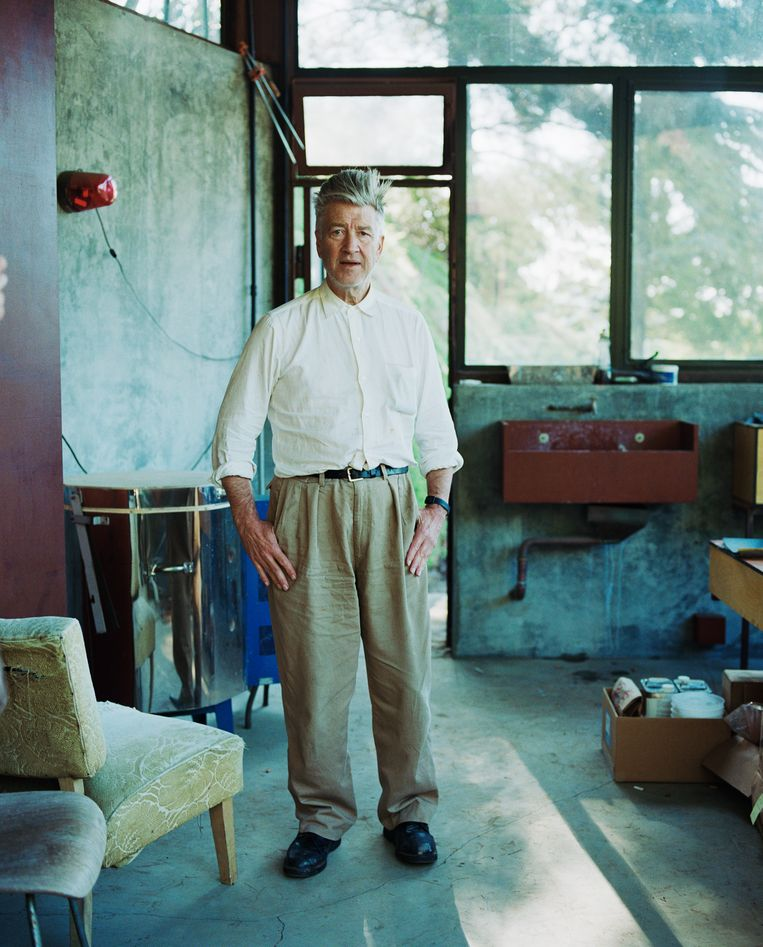 David Lynch in zijn studio Beeld Corbis via Getty Images