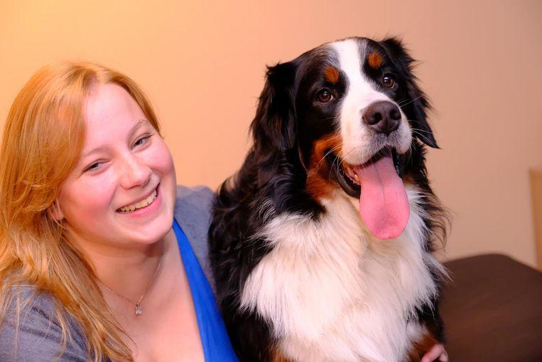 Cynthia Vertongen en haar hond Hayco.
