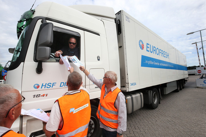 Een vrachtwagen van HSF Logistics. Foto ter illustratie.