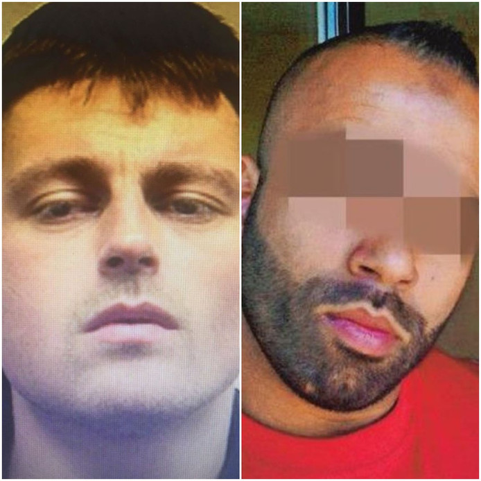 Links dader Benjamin H., die onder andere met hulp van Fouad B. (rechts) geradicaliseerd zou zijn in de gevangenis.