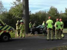 Auto tegen boom gebotst op de N319 bij Warnsveld