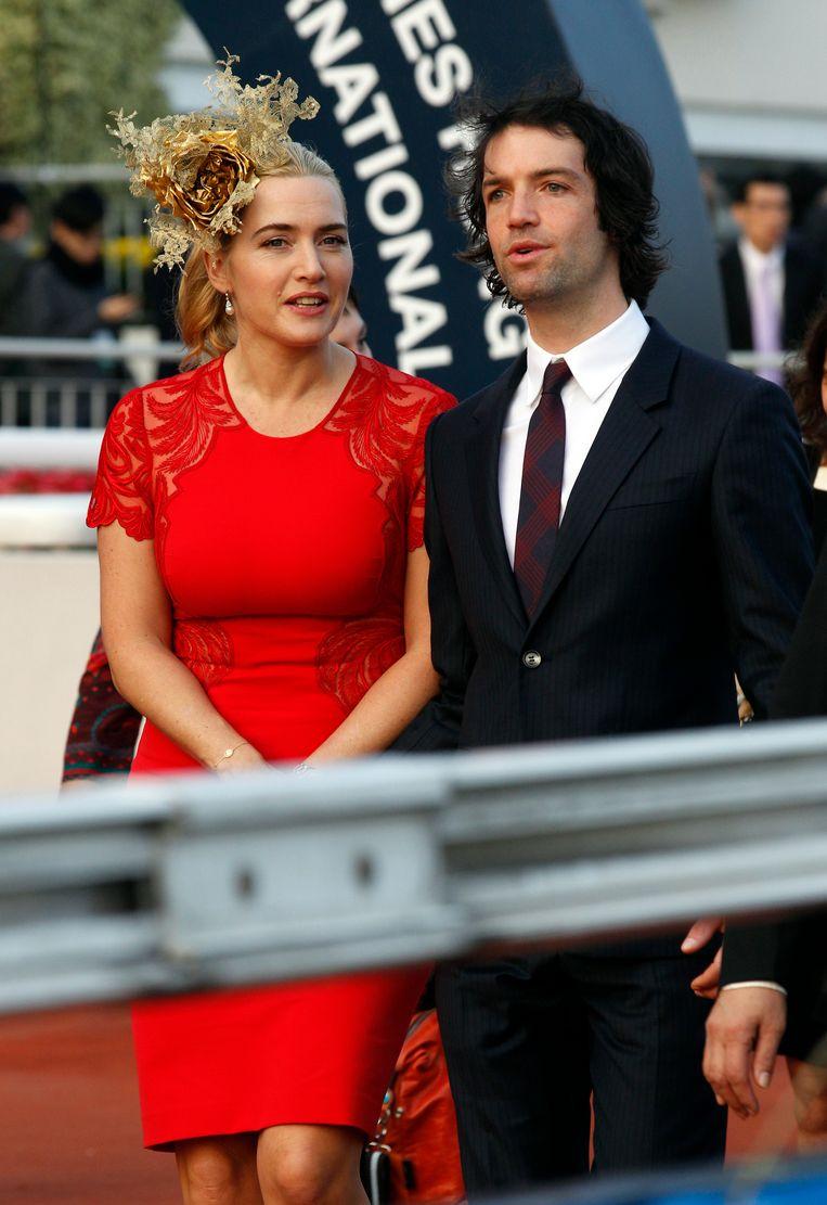 Eén van de zeldzame keren dat Kate Winslet en haar echtgenoot Ned Rocknroll samen op de rode loper stonden, bijna zes jaar geleden tijdens de Longines Hong Kong Cup.