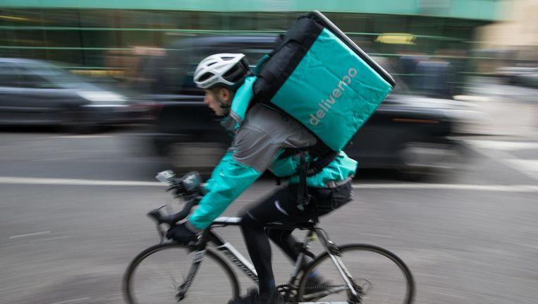 Alle nieuwe bezorgers van Deliveroo worden zzp'ers. Beeld anp
