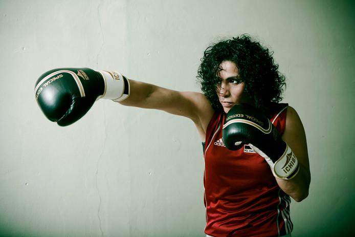 Marichelle de Jong heeft de ondernemers klaargestoomd voor het White Collar Boxing Event.