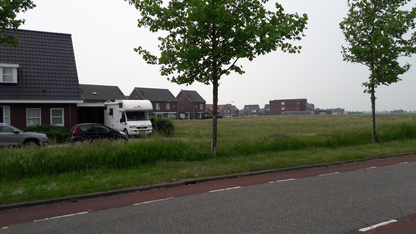 Het betreffende gebied bij de Zwink in Tholen.