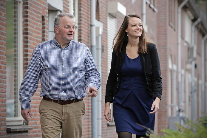 Ad de Haas (oprichter SchuldHulpMaatje) en Inge Coopmans.
