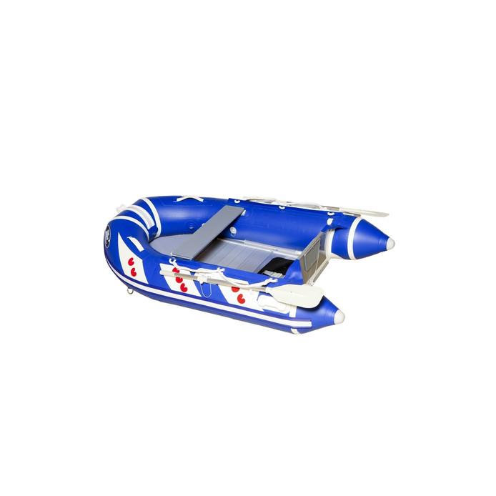 De rubberboot van het type waarmee de oversteek werd gemaakt