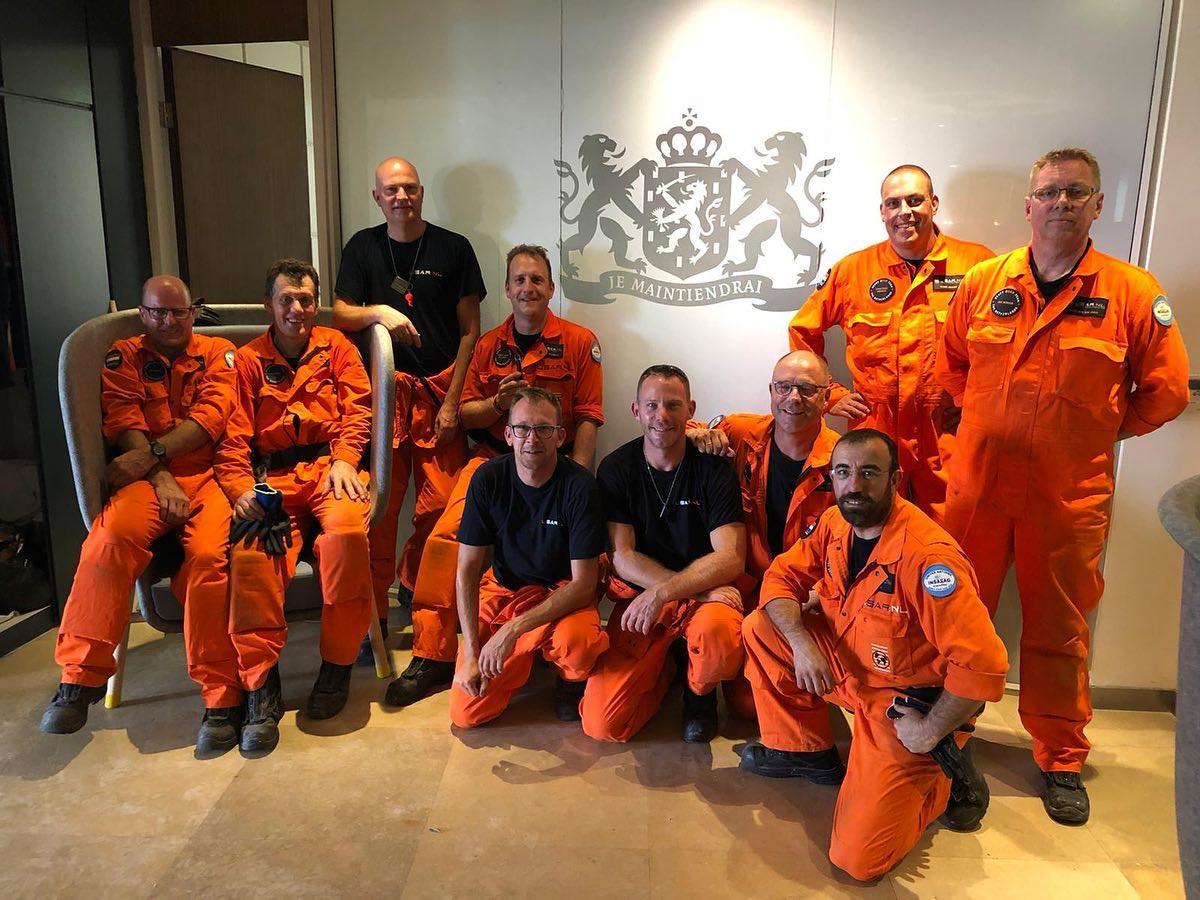 Het USAR-team uit Zuid-Holland Zuid, in actie in Beiroet.