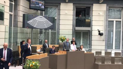 """Bert Maertens legt opnieuw eed af als Vlaams parlementslid: """"West-Vlaamse dossiers blijven aankaarten in Brussel"""""""