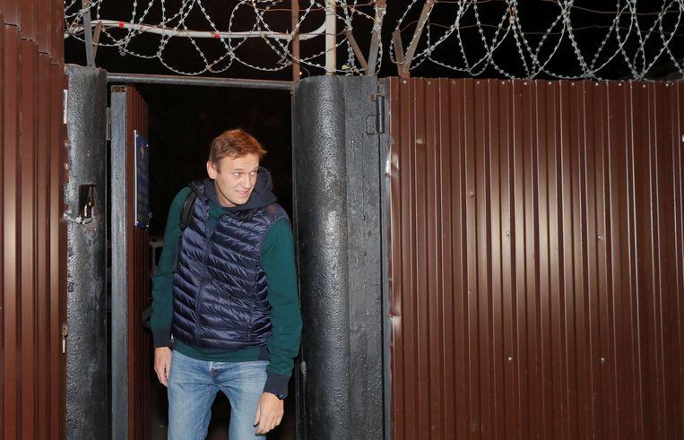Aleksej Navalny, een grote tegenstander van huidig president Vladimir Poetin, heeft deze ochtend de gevangenis verlaten.