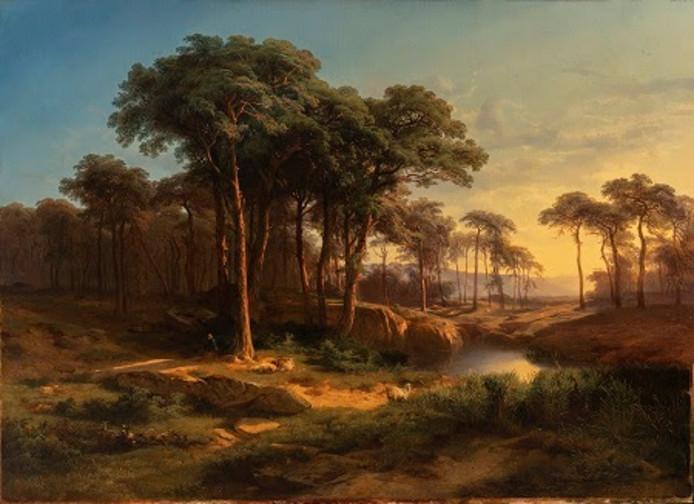 Alexandre Calame (1810 - 1864), Italiaans landschap.