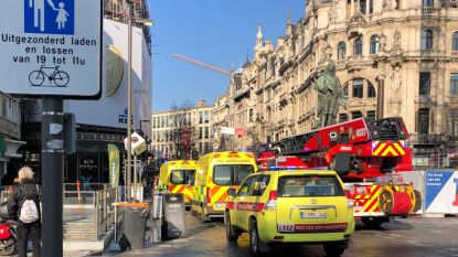 Ongeval op werf Teniersplaats: arbeider in levensgevaar