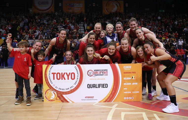 De Belgian Cats vieren hun kwalificatie voor de Olympische Spelen in Tokio