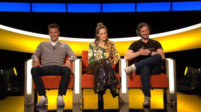 """Jelle Vossen (Club de Bruges) a participé à l'émission flamande """"De Slimste Mens ter Wereld"""" sur la chaîne Vier. Il était encouragé par plusieurs coéquipiers dans l'assistance."""
