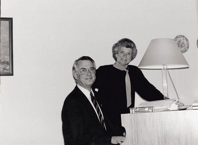 Gerrit Jan Heijn met echtgenote Hank bij de vleugel. Foto GPD Beeld