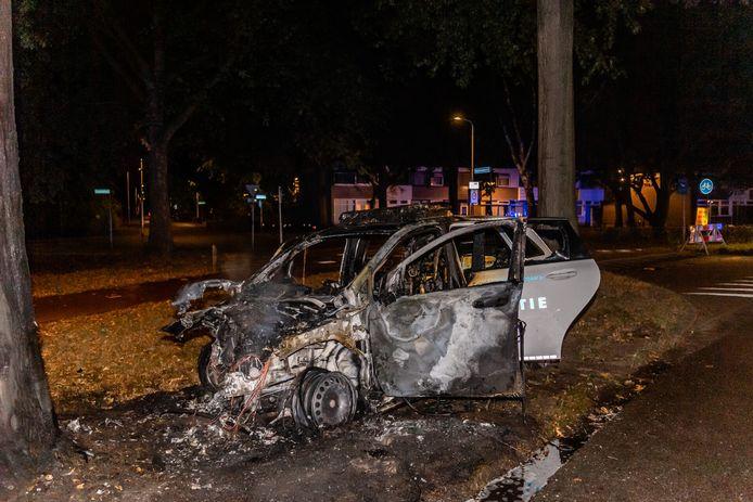 Politieagente gewond door ongeluk Sweelincklaan Tilburg.