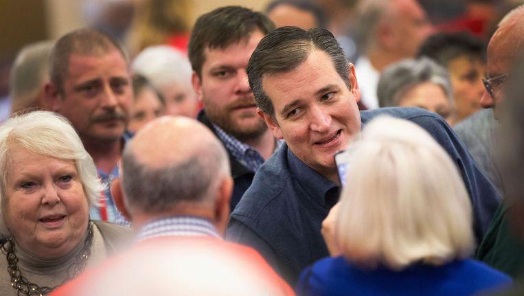 Senator Ted Cruz op campagne in South Carolina waar hij aanhangers van de Tea Party toesprak Beeld null