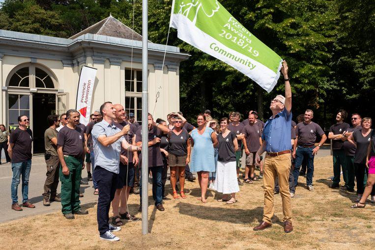 Vorig jaar mocht het Rivierenhof de vlag voor een eerste keer hijsen