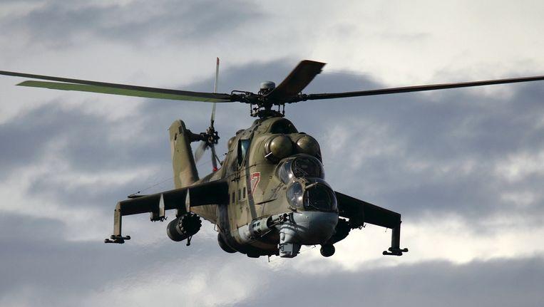 Een Russische Mi-25-helikopter. Beeld Igor Dvurekov