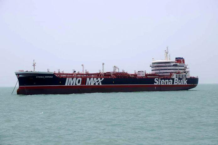 Het vrachtschip Stena Impero.