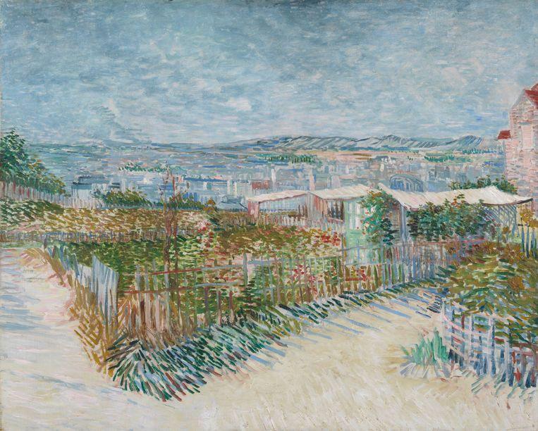 Vincent van Gogh, 1887 - Montmartre: achter de Moulin de la Galette Beeld Van Gogh Museum