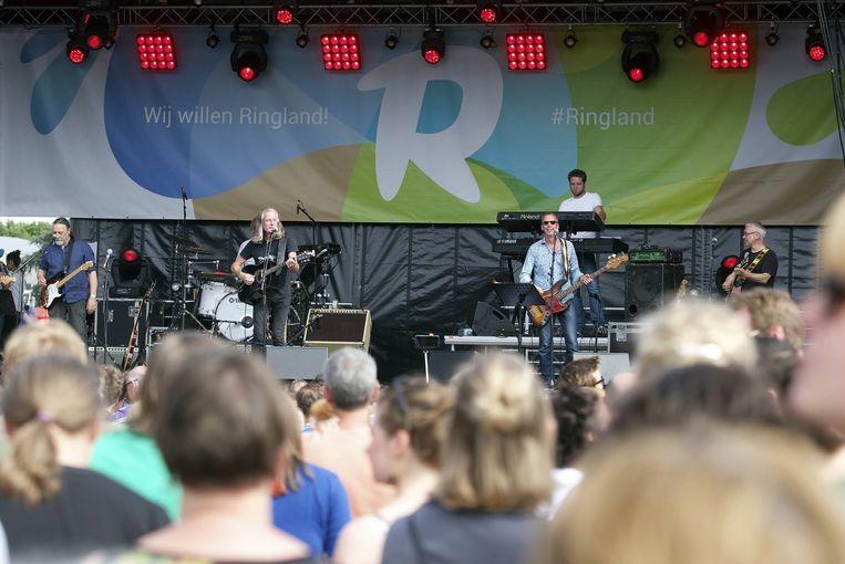 Guy Swinnen tijdens het tweede Ringlandfestival in Antwerpen.