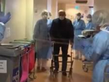 Isala ontroert met video van oude man die Intensive Care verlaat: 'Naast narigheid, veel geluksmomenten'