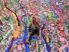 Il réalise la plus grande peinture du monde