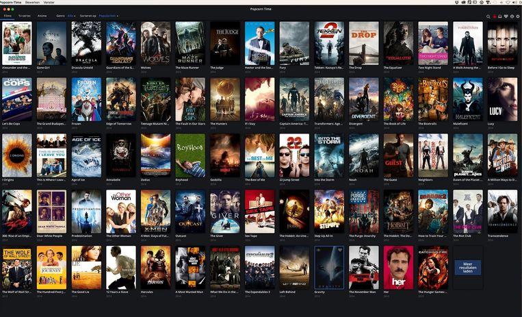 Iedere overeenkomst met Netflix is niet alleen in uw verbeelding. Grote verschil: Popcorn Time heeft een veel verser aanbod. Beeld Volkskrant