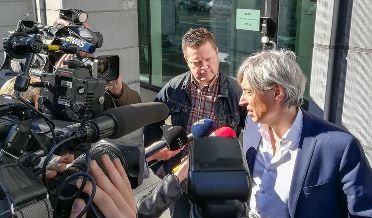 Kris Verduyn en zijn advocaat Walter Van Steenbrugge.
