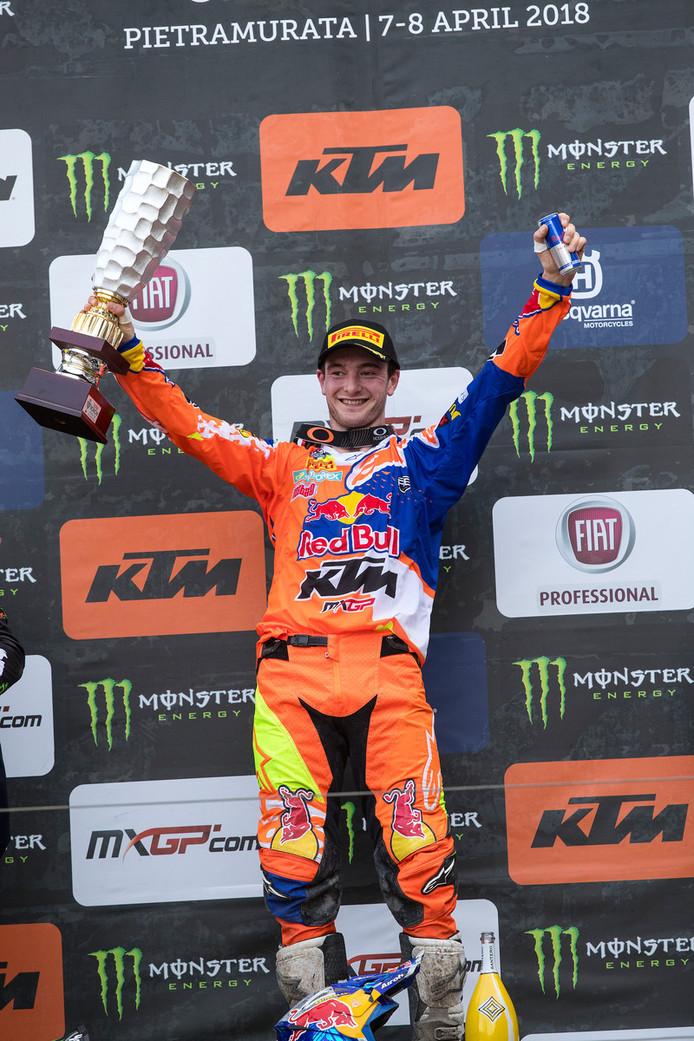 Jeffrey Herlings wint de MXGP in Trentino.