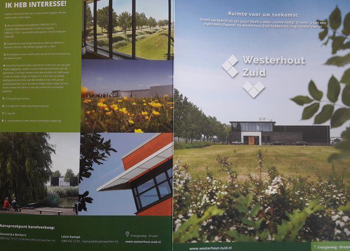 Wervingsfolder voor Westerhout-Zuid.