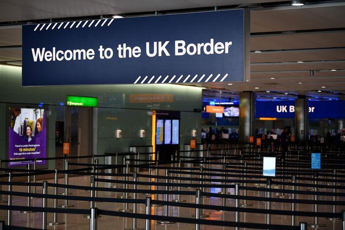 Paspoortcontrole op Heathrow Airport