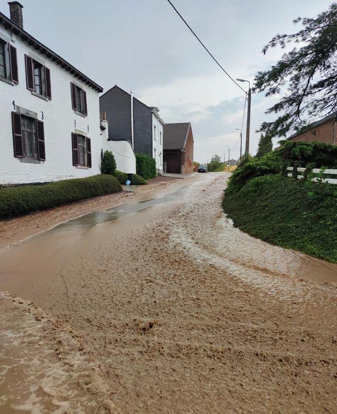 La commune de Donceel (Province de Liège) inondée après les intempéries du 11 août 2020.