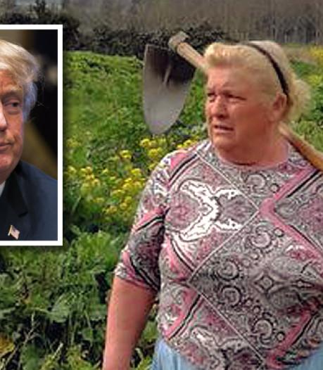 'Het komt door mijn haar': Spaanse boerin lijkt sprekend op Donald Trump