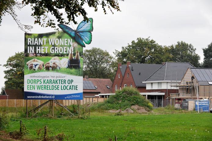 Nieuwbouwwijk 't Spikkert in Weerselo. In die plaats is volgens de gemeente vooral behoefte aan huurwoningen.