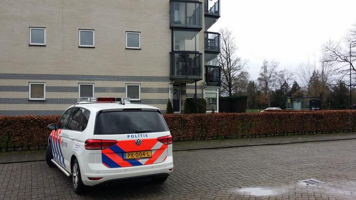 Het appartementencomplex aan de 1e Wormenseweg in Apeldoorn waar de vrouw woensdagmiddag slachtoffer werd van een babbeltruc.