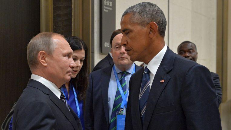 Putin en Obama ontmoeten elkaar op de G20 in China, september Beeld epa