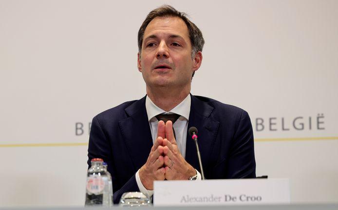 Le Premier ministre Alexander De Croo, vendredi, à Bruxelles