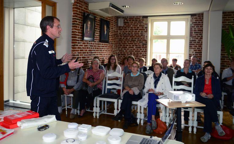 Tim Renders van de Leuvense brandweerpost.