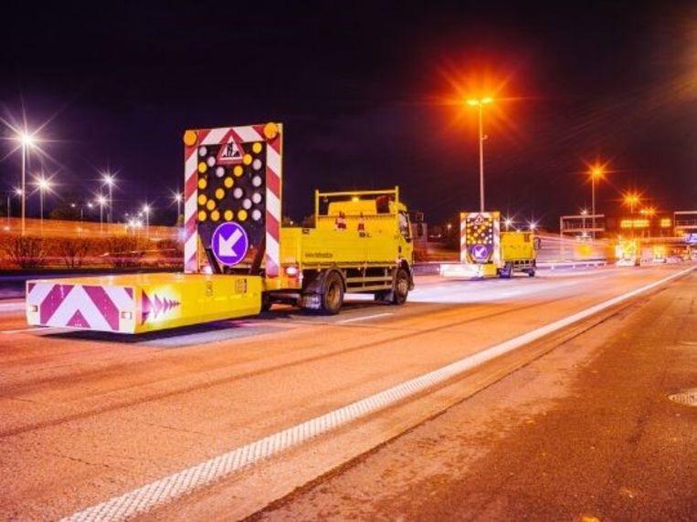 De snelweg zal gedeeltelijk worden afgesloten tijdens de volgende twee werknachten.