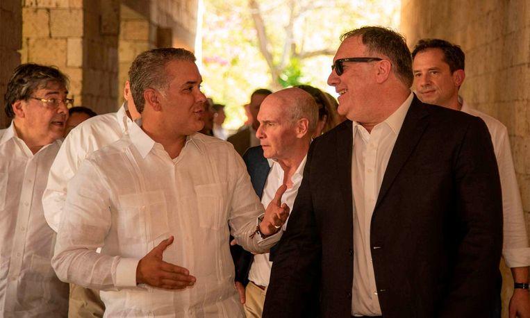 Pompeo (rechts) en Duque (links)