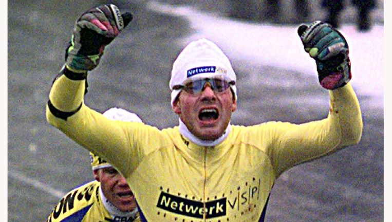 Angenent bij zijn overwinning op 4 januari 1997. Beeld null